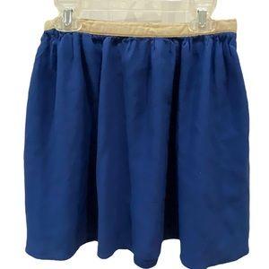 Topshop blue flare skirt, size 6